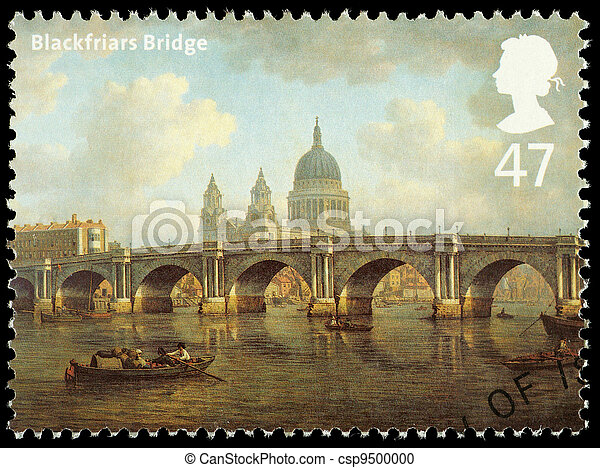 Bridges of London Postage Stamp - csp9500000