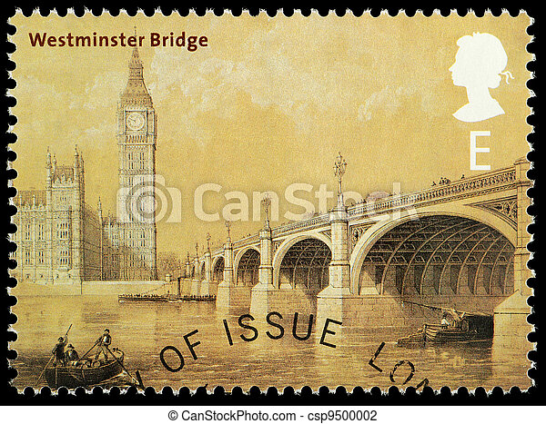 Bridges of London Postage Stamp - csp9500002
