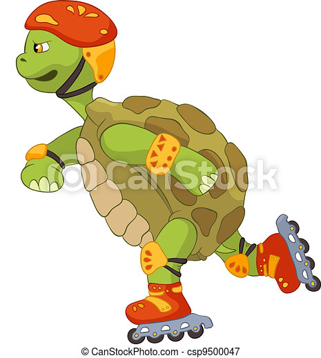 Funny Turtle. Roller. - csp9500047