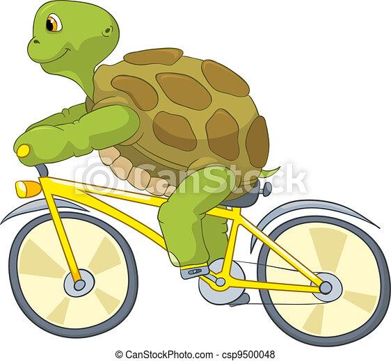 Funny Turtle. Biker. - csp9500048