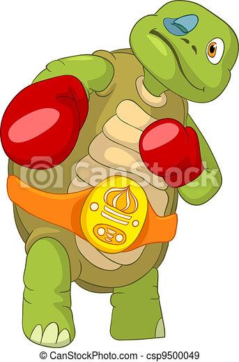 Vecteurs eps de rigolote tortue boxeur dessin anim - Image tortue rigolote ...