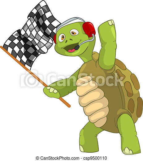 Funny Turtle. Race Finish. - csp9500110