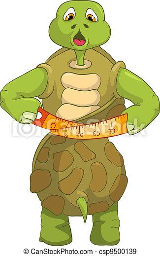Funny Turtle. Diet. - csp9500139