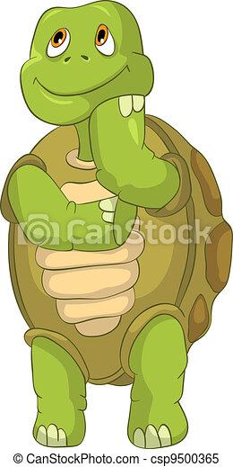 Vecteur clipart de rigolote tortue pens e dessin anim - Image tortue rigolote ...