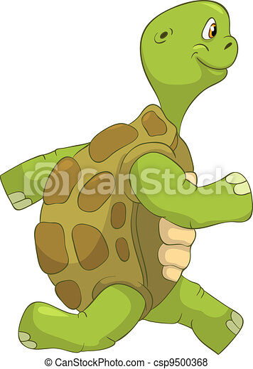 Vecteur de rigolote tortue courant dessin anim - Image tortue rigolote ...