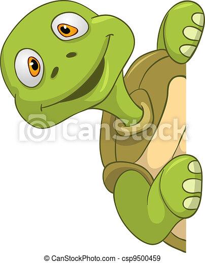Vecteurs eps de tortue rigolote cartoon character - Tortue rigolote ...