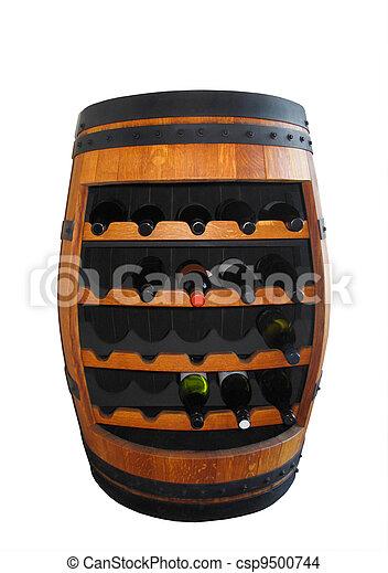 photo de bois baril vin bouteille support wodden baril vin csp9500744 recherchez. Black Bedroom Furniture Sets. Home Design Ideas