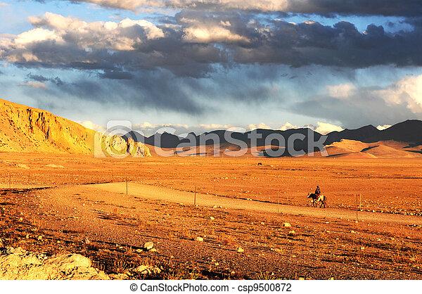 Landscape in Tibet - csp9500872