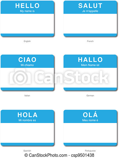 Foreign Language of Hello - csp9501438