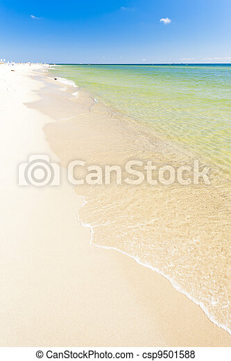 beach on Hel Peninsula, Pomerania, Poland - csp9501588
