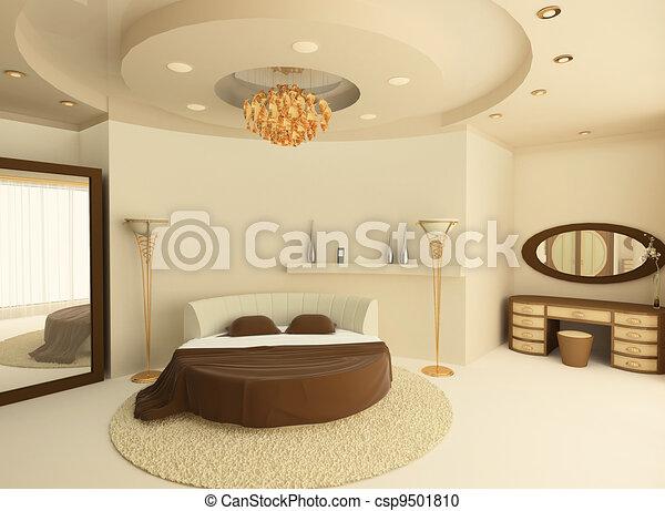 illustration de plafond lit luxueux suspendu chambre coucher rond csp9501810. Black Bedroom Furniture Sets. Home Design Ideas