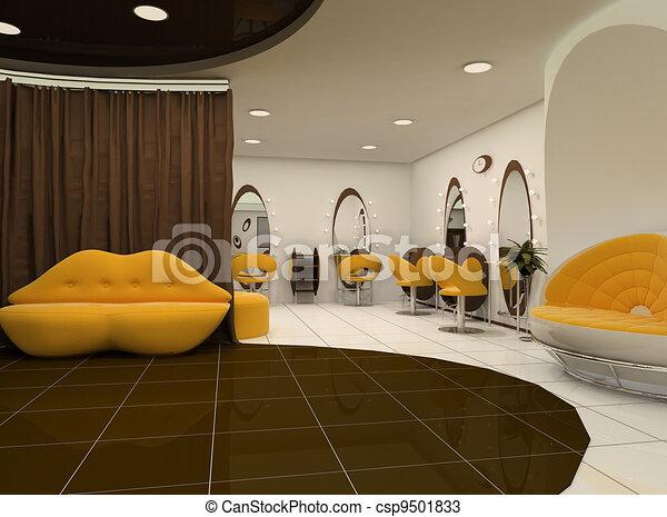 Interior of luxury beauty salon - csp9501833