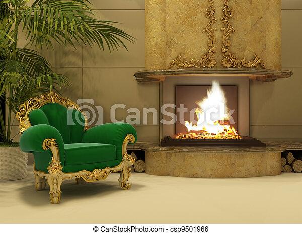 illustration de int rieur fauteuil royal luxe chemin e royal csp9501966 recherchez. Black Bedroom Furniture Sets. Home Design Ideas