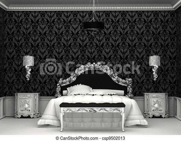 Dessins de baroque meubles roayl chambre coucher for Chambre a coucher baroque