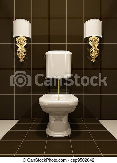 clip art de toilette moderne salle bains csp9502042 recherchez des clipart des. Black Bedroom Furniture Sets. Home Design Ideas