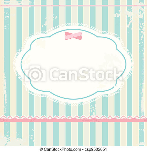 Vector background in shabby chic style  - csp9502651