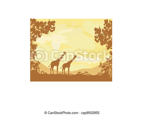 African fauna and flora - csp9502955