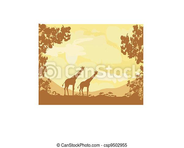 African fauna and flora - csp9502955