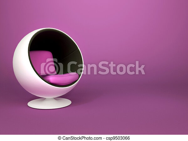 Stock illustration von runder minimalismus sessel auf for Runder sessel