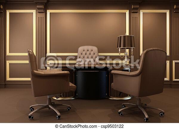 Clipart Di Classico Moderno Ufficio Interno Posto