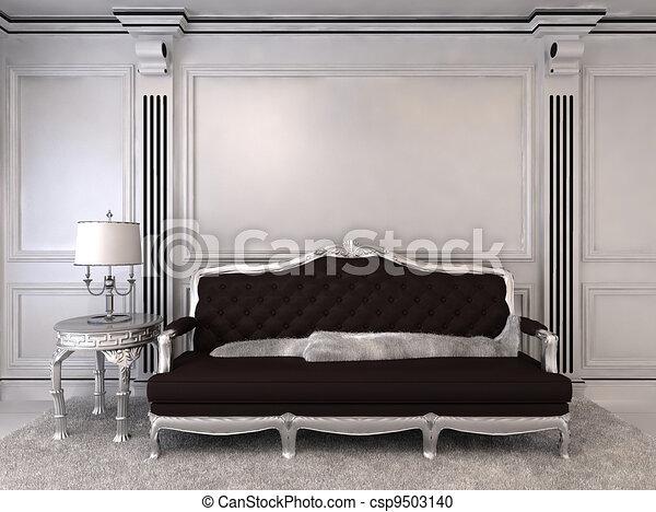 Luxurious sofa in modern interior - csp9503140