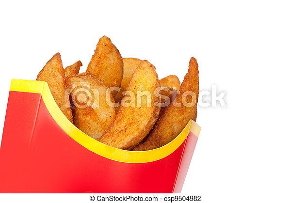 fast food. Fried potatoes - csp9504982