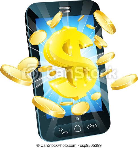Dollar money phone concept - csp9505399