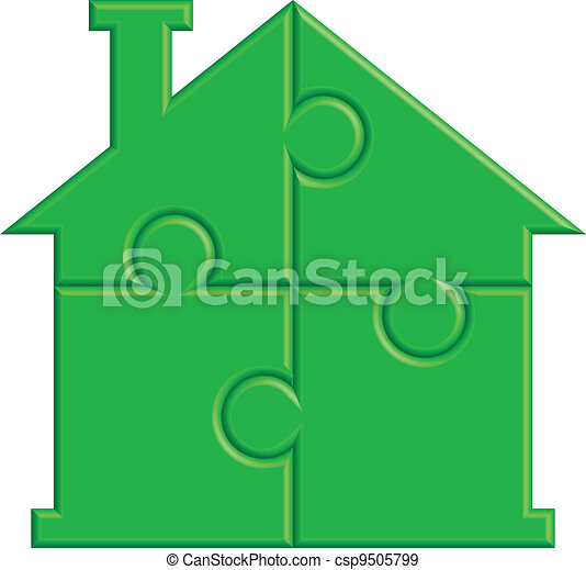 house from puzzle - csp9505799