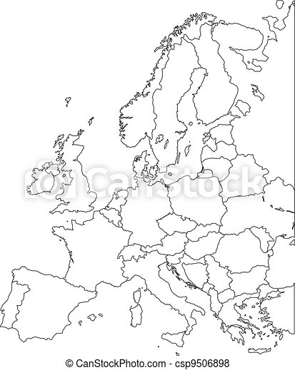 Europe vector map - csp9506898