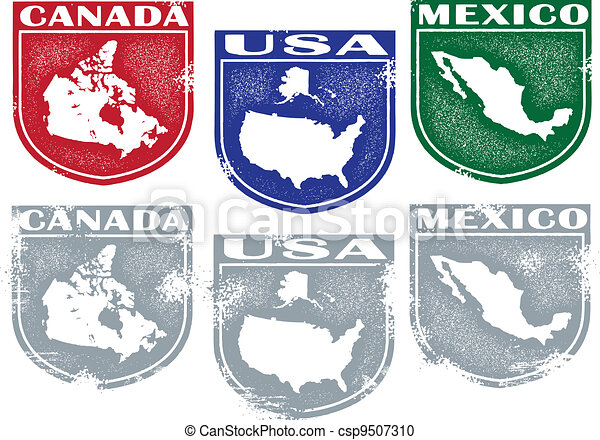 North American Country Crests - csp9507310