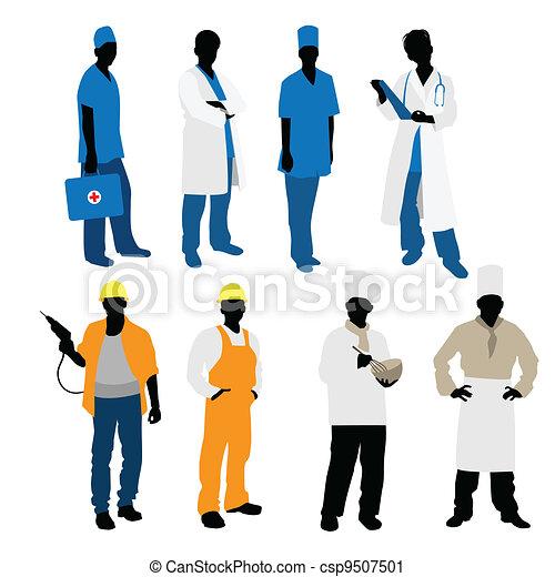 Mens professions silhouettes - csp9507501