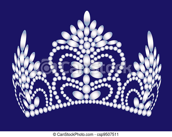 wedding feminine diadem from pearl - csp9507511