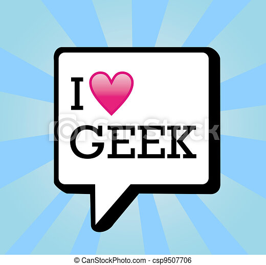 I love geek message background illustration - csp9507706