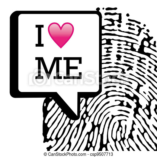 I love me illustration background - csp9507713