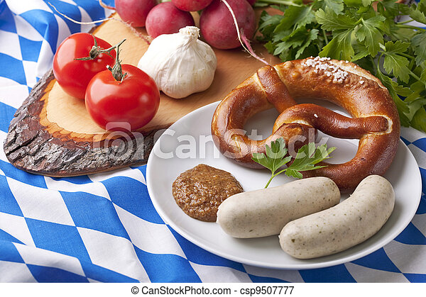 Bavarian white sausages - csp9507777