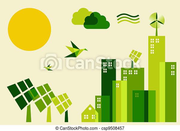 City sustainable development concept illustration - csp9508457