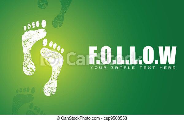 Footprint on Follow Concept - csp9508553