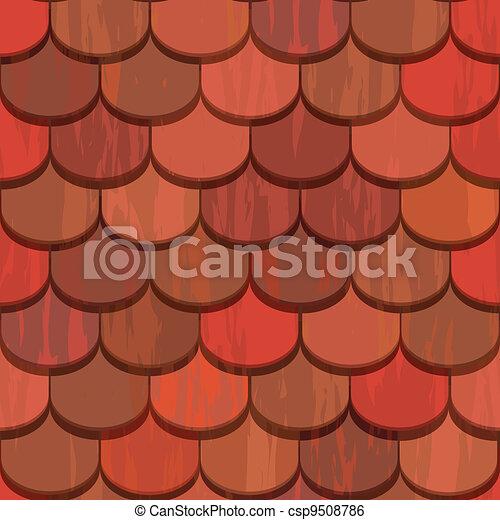 clip art vecteur de tuiles argile seamless toit rouges