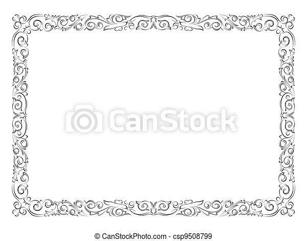 simple black ornamental decorative frame - csp9508799