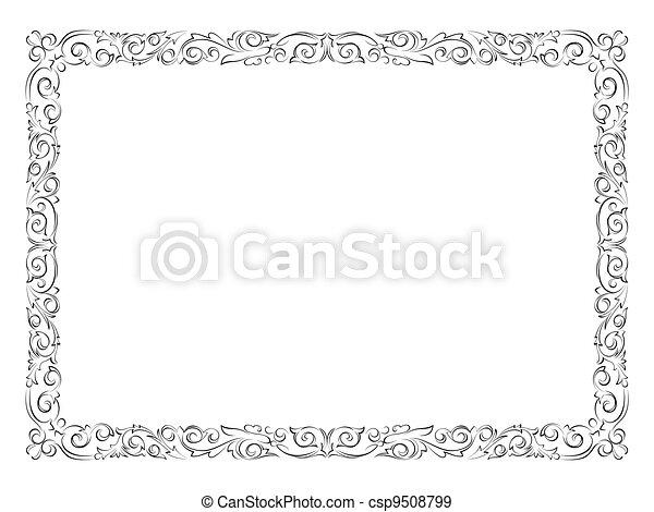 simple black ornamental decorative frame - csp9508799