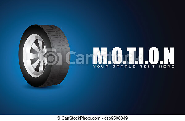 Tyre on Motion Background - csp9508849