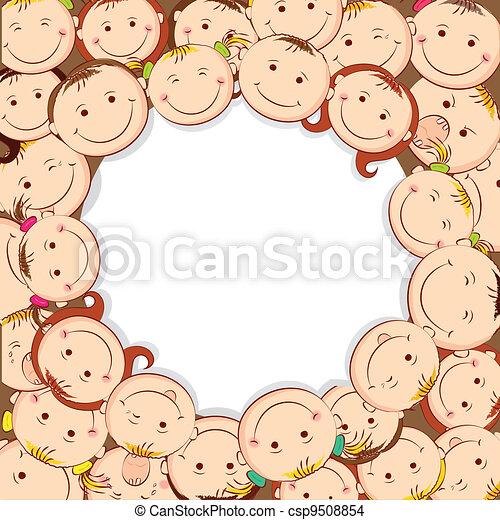 Kids Looking Upward - csp9508854
