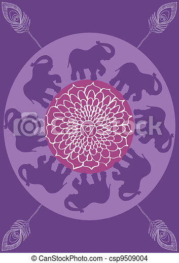 Festive typical indian elephant background - csp9509004