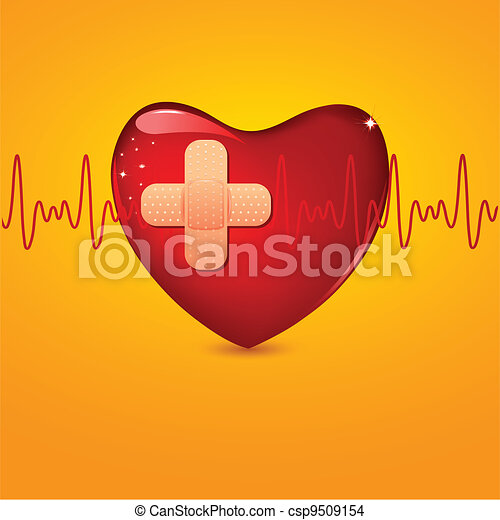 Wounded Heart - csp9509154