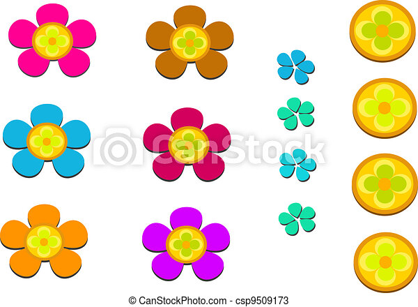 Mix of Flowers and Petals - csp9509173