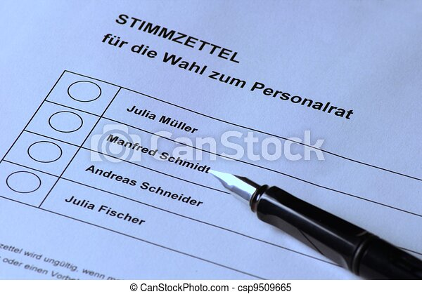 German personnel election - csp9509665