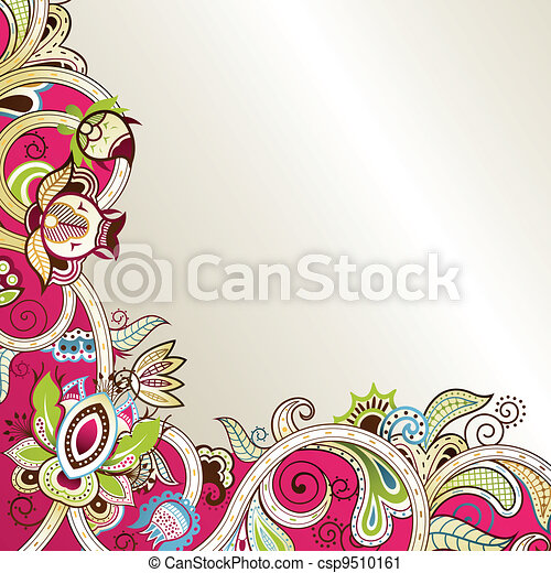 Asia Floral Background - csp9510161
