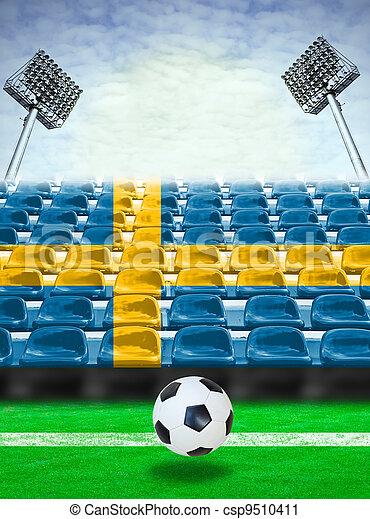 Sweden Flag Pattern on Seat - csp9510411