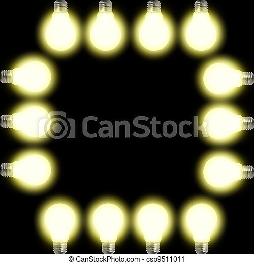 light bulb frame - csp9511011