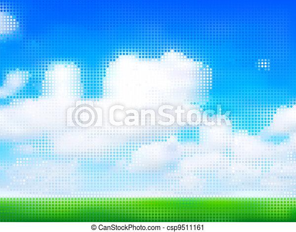 Cloudy sky - csp9511161